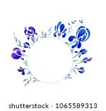 round vignette with blue... | Shutterstock . vector #1065589313
