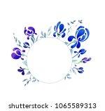 round vignette with blue...   Shutterstock . vector #1065589313