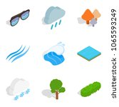 waterway icons set. isometric... | Shutterstock .eps vector #1065593249