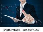 businessman using digital... | Shutterstock . vector #1065594659