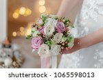 luxurious bridal bouquet of... | Shutterstock . vector #1065598013