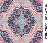 indian rug paisley ornament...   Shutterstock .eps vector #1065605009
