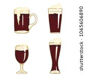 vector cartoon set of dark beer ... | Shutterstock .eps vector #1065606890