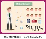 animated character. doctor... | Shutterstock .eps vector #1065613250