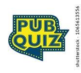 pub quiz announcement phrase.... | Shutterstock .eps vector #1065613556