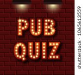 pub quiz announcement poster.... | Shutterstock .eps vector #1065613559