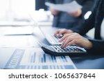 business adviser analyzing... | Shutterstock . vector #1065637844