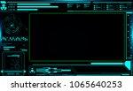 hud futuristic elements screen...