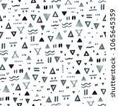 abstract hand drawn ethnic...   Shutterstock . vector #1065645359