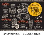 brunch restaurant menu. vector... | Shutterstock .eps vector #1065645836