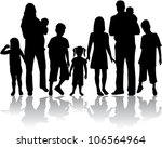 profiles of large family | Shutterstock .eps vector #106564964