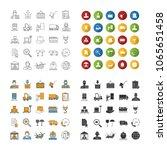 cargo shipping icons set.... | Shutterstock .eps vector #1065651458