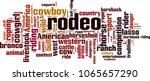 rodeo word cloud concept.... | Shutterstock .eps vector #1065657290