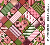 seamless patchwork pattern with ... | Shutterstock .eps vector #1065660110