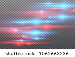 vector red and blue special... | Shutterstock .eps vector #1065663236