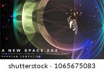 astronaut. cosmos futuristic... | Shutterstock .eps vector #1065675083