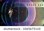 astronaut. cosmos futuristic... | Shutterstock .eps vector #1065675110