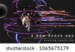 astronaut. cosmos futuristic... | Shutterstock .eps vector #1065675179