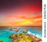 nugget point. coastal view at... | Shutterstock . vector #106567928
