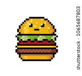 cute hamburger in the style of... | Shutterstock .eps vector #1065687803