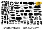 big set of black paint  ink... | Shutterstock .eps vector #1065697394
