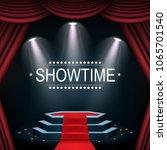 vector illustration of showtime ... | Shutterstock .eps vector #1065701540
