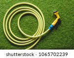 Top View Of Hosepipe On Grass ...