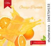 orange popsicle ads. popsicle... | Shutterstock .eps vector #1065704153