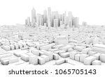 abstract schematic 3d rendering ... | Shutterstock . vector #1065705143