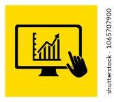 progress bar in monitor icon... | Shutterstock .eps vector #1065707900