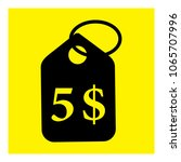 five dollar price label icon... | Shutterstock .eps vector #1065707996