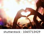 portrait of happy crowd... | Shutterstock . vector #1065713429