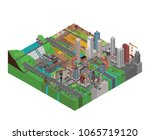 isometric city vector | Shutterstock .eps vector #1065719120