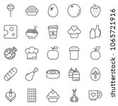 thin line icon set   coffee... | Shutterstock .eps vector #1065721916