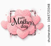 greeting card on happy mother's ... | Shutterstock .eps vector #1065725348