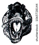 horrible giant dinosaur  the... | Shutterstock .eps vector #1065728144
