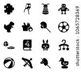 Solid Vector Icon Set   Puzzle...