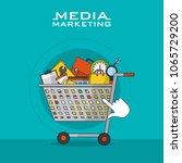 social media marketing | Shutterstock .eps vector #1065729200