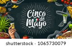 cinco de mayo lettering and... | Shutterstock .eps vector #1065730079