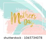 mother's day vector card. blue... | Shutterstock .eps vector #1065734078