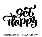 get happy hand lettering... | Shutterstock . vector #1065735494