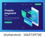 concepts mobile payments ... | Shutterstock .eps vector #1065739730