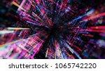 abstract digital virtual city.... | Shutterstock . vector #1065742220
