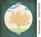 illustration sticker of... | Shutterstock . vector #1065743018