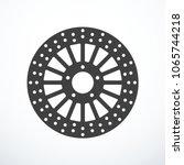 vector motorcycle brake disc... | Shutterstock .eps vector #1065744218