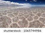 salt lake uyuni  bolivia   ... | Shutterstock . vector #1065744986