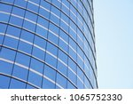 low angle view of modern curved ...   Shutterstock . vector #1065752330