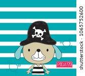 cute cartoon dog in pirate hat ...   Shutterstock .eps vector #1065752600