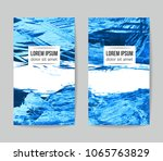 set of vector business card... | Shutterstock .eps vector #1065763829