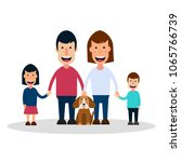 vector illustration with happy... | Shutterstock .eps vector #1065766739